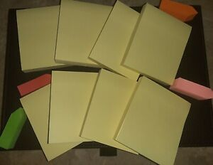 Canary Yellow Post Its 8 Pack 2 5 3 4 Post It Multi Colored Tabs 100 Pg Pad