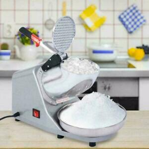 110v Electric Ice Crusher Shaver Machine Shaved Ice Snow Cone Maker 200w 143 Lbs