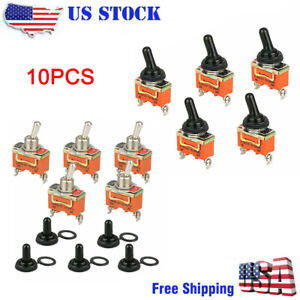 10x Toggle Switch On off Heavy Duty 30a 125v Spdt 2 Terminal Car Boat Waterproof