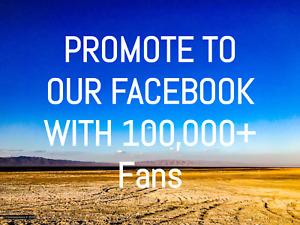 Promote Your Link To Our Facebook Page 100 000 People