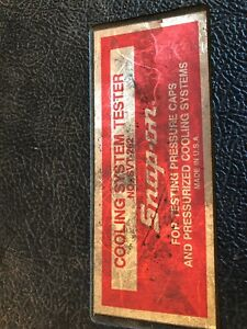 Snap On Cooling System Tester