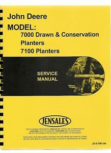John Deere 7000 7100 Planter Service Repair Manual Tm1154