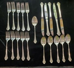 Bel Chateau Lunt Sterling Silver Flatware Set Service For 5 21 Pieces