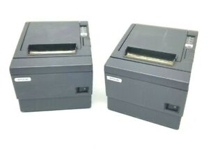 2 Epson Tm t88iii Pos Point Of Sale Thermal Usb Receipt Printer M129c No Cords