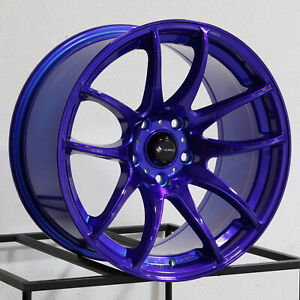 Vors Tr4 17x8 5x115 35 Candy Purple Blue Wheels 4 73 1 17 Inch Rims
