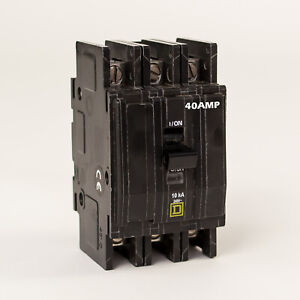 Sqd Square D Circuit Breaker 40 Amp 3 Phase Panel Mount Bk 340p