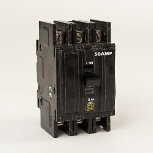 Sqd Square D Circuit Breaker 50 Amp 3 Phase Panel Mount Bk 350p