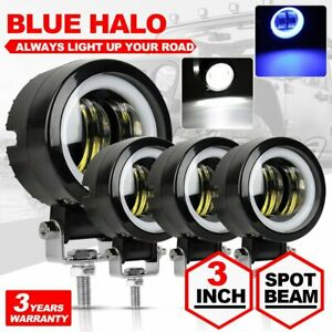 4x 80w 3inch Spot Round Led Work Light Offroad Fog Driving Drl Suv Atv Truck 4wd