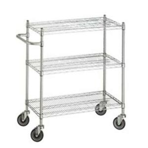 R b Wire Uc1836 18 In X 36 In X 42 In Utility Linen Cart With Three Wire S
