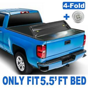 4 Fold 5 5ft Truck Bed Tonneau Cover For 2014 2021 Toyota Tundra Waterproof