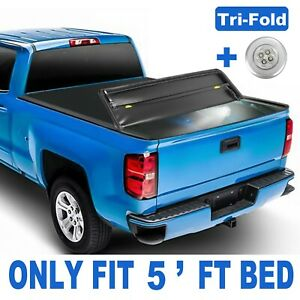 Tri Fold 5ft Bed Truck Tonneau Cover For Nissan Frontier Suzuki Equator W lamp