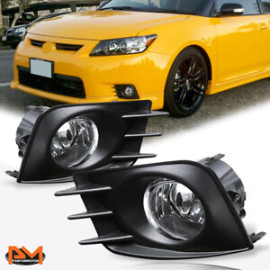 For 11 13 Scion Tc Clear Lens Front Bumper Driving Fog Light Lamp Switch Pair