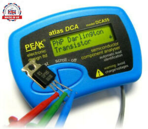 Peak Atlas Dca55 Semiconductor Component Analyser Tester Transistor Mosfet Diode