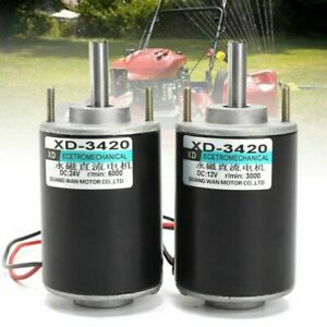 Xd 3420 12 24v 30w Permanent Magnet Dc Motor High Speed Cw ccw For Diy Generator