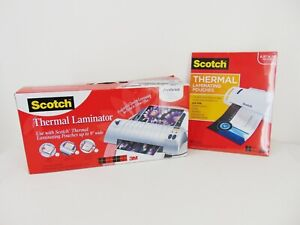 Scotch 3m Tl901 Thermal Laminator 9 Wide W Pack Of 50 Pouches Included