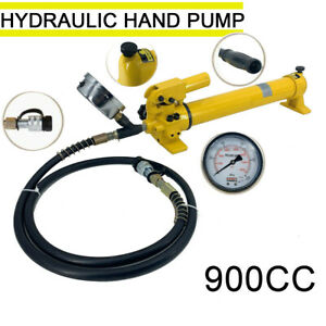 2 Speed Power Pack Hose 700bar 900cc Coupler Hydraulic Hand Pump 10000 Psi Us