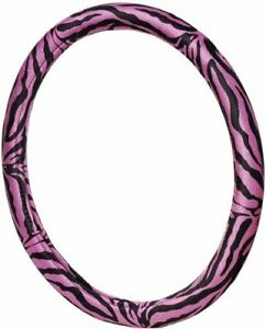 Pink Safari Zebra Print Steering Wheel Cover