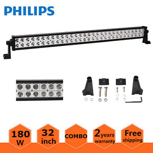 32inch 180w Led Light Bar Spot Flood Offroad Driving Lamp 4wd Ute Truck Atv Ford