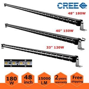 48 40 33 25 17 9 30w 60w 90w 120w 150w 180w Led Light Bar Single Row Slim