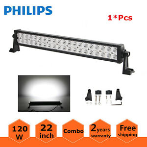 22 Inch 120w Led Light Bar Combo Work Lights 4wd Suv Driving Offroad Slim 20 24