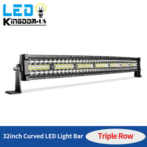 32inch 585w Led Work Light Bar Combo Driving Offroad Bumper Lamp Truck Pk 30 34