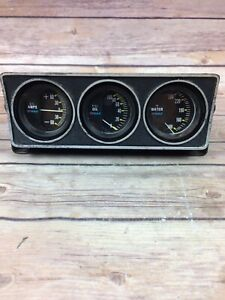 Vintage R A C Auto Racing Gauges Amps Oil Water Hot Rat Rod
