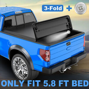 Tri fold Tonneau Cover For 2009 2019 Dodge Ram 1500 Truck 5 8ft Bed Waterproof