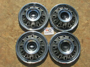 1967 Chevy Impala 14 Wheel Covers Hubcaps Set Of 4