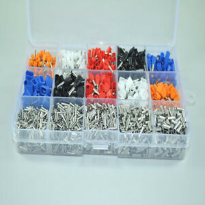 2340pcs Electrical Wire Insulated Crimp Terminals Connectors Spade Ring Kit