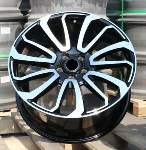 24x10 Wheels Fit Range Rover Land Rover Hse Sport Black Machined 24 Inch Set 4