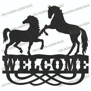 Welcome Horse Dxf Sign Plasma Laser Waterjet Router Plotter Cut Vector Cnc File