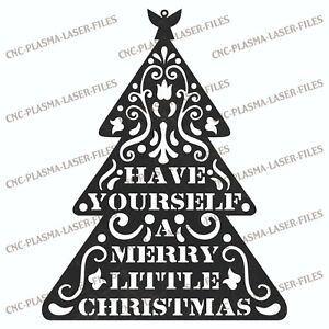 Christmas Tree Dxf Sign Plasma Laser Waterjet Router Plotter Cut Vector Cnc File