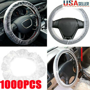 Universal 1000 Car Steering Wheel Cover For Disposable Plastic Protective Covers
