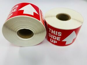 1 Roll Of 400 2x3 This Side Up Arrow Fragile Office Supplies Shipping Labels