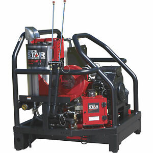 Northstar Proshot Hot Water Commercial Pressure Washer Skid 3000 Psi 8 0 Gpm
