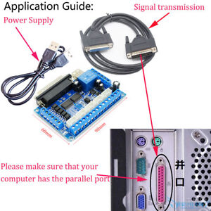 1pcs 5 Axis Cnc Breakout Board Interface For Stepper Motor Driver Mach3