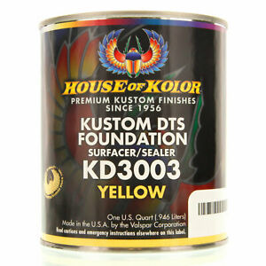 1 Quart Yellow Color Kd3003 House Of Kolor Dts Auto Surfacer Sealer Epoxy Primer