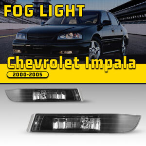 For 00 05 Chevrolet Impala Ls Fog Lights Assembly Driving Front Lamp Black Clear