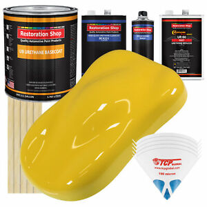 Daytona Yellow Gallon Urethane Basecoat Clearcoat Car Auto Paint Fast Kit