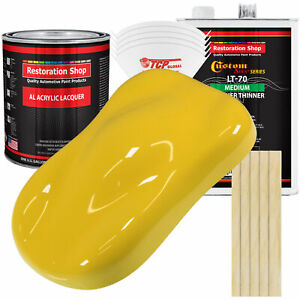 Daytona Yellow Acrylic Lacquer Gallon Auto Paint Kit Medium Thinner