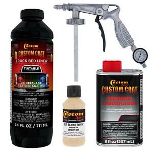 33446 Desert Tan T80 Urethane Spray On Truck Bed Liner 1 Quart Kit W Spray Gun
