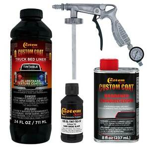 Camo Smoke Black T93 Urethane Spray On Truck Bed Liner 1 Quart Spray Gun Kit