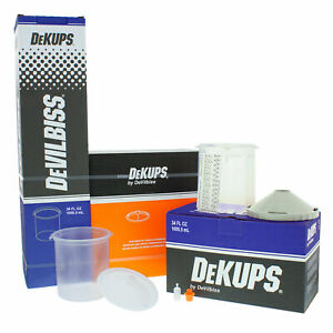 Devilbiss Dekups 34 Oz Starter Set Kit New Disposable Hvlp Paint Spray Gun Cups