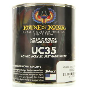 1 Quart Kosmic Acrylic Urethane Klear House Of Kolor Hok Uc35 Topcoat Clear