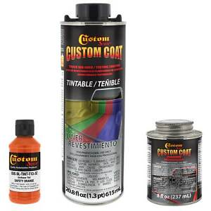 Custom Coat Safety Orange 1 Quart Urethane Spray On Truck Bed Liner Kit Easy Mix