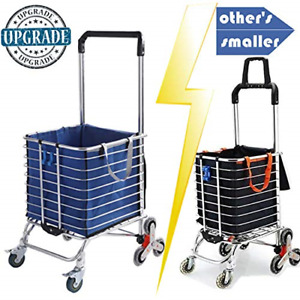 Fordable Shopping Cart Portable Grocery Lightweight Stair Climbing With Rolling