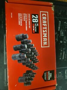Craftsman 28piece Standard sae And Metric Combination 1 2 in Drive Set 6 point