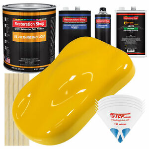 Viper Yellow Gallon Urethane Basecoat Clearcoat Car Auto Body Paint Kit