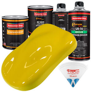 Electric Yellow Premium Quart Urethane Basecoat Clearcoat Car Auto Paint Kit