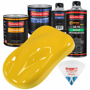 Indy Yellow Quart Urethane Basecoat Clearcoat Car Auto Body Paint Kit